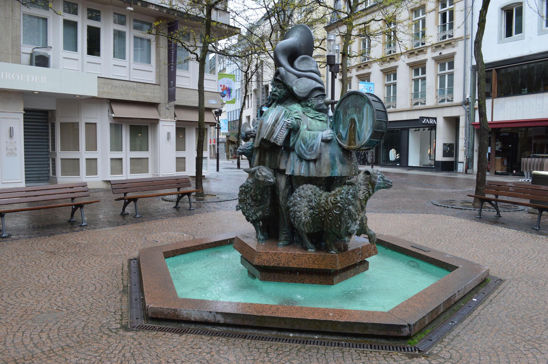 Plattegrond Luxemburg stad